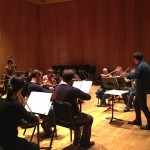 The Sinfonietta rehearses Bartok's Divertimento at the DiMenna Center